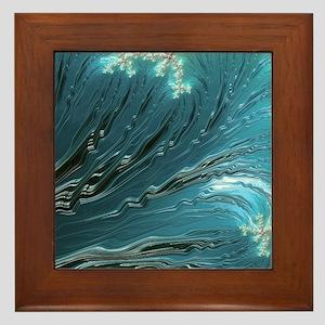 Big Wave Fine Fractal Art Framed Tile