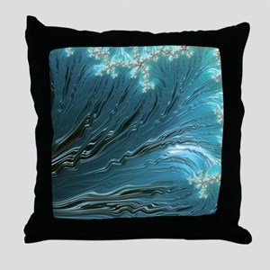 Big Wave Fine Fractal Art Throw Pillow
