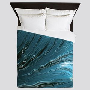 Big Wave Fine Fractal Art Queen Duvet