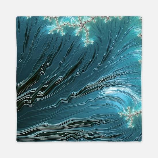 Big Wave Fine Fractal Art Queen Duvet