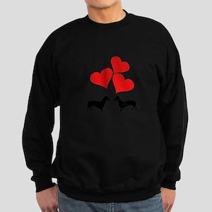 Hearts & Dachshunds Sweatshirt