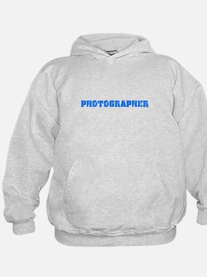 Photographer Blue Bold Design Sweatshirt