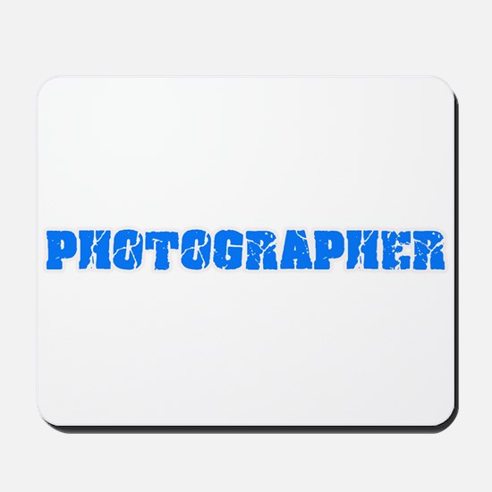 Photographer Blue Bold Design Mousepad