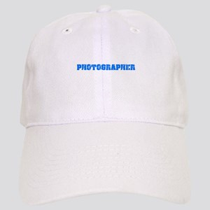 Photographer Blue Bold Design Cap