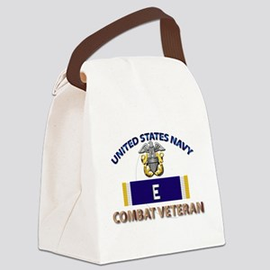 Navy E Ribbon - Cbt Vet Canvas Lunch Bag