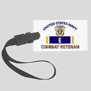 Navy E Ribbon - Cbt Vet Large Luggage Tag