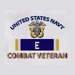 Navy E Ribbon - Cbt Vet Throw Blanket