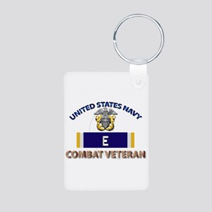 Navy E Ribbon - Cbt Vet Aluminum Photo Keychains
