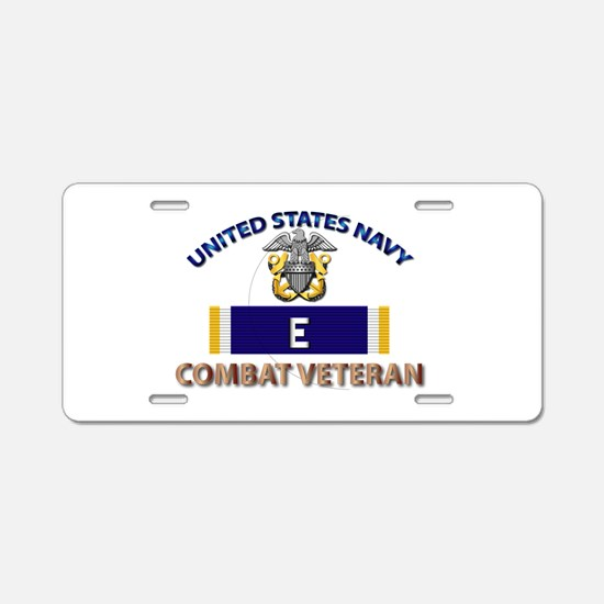 Navy E Ribbon - Cbt Vet Aluminum License Plate