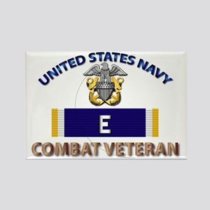 Navy E Ribbon - Cbt Vet Rectangle Magnet