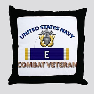 Navy E Ribbon - Cbt Vet Throw Pillow