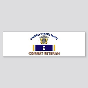 Navy E Ribbon - Cbt Vet Sticker (Bumper)