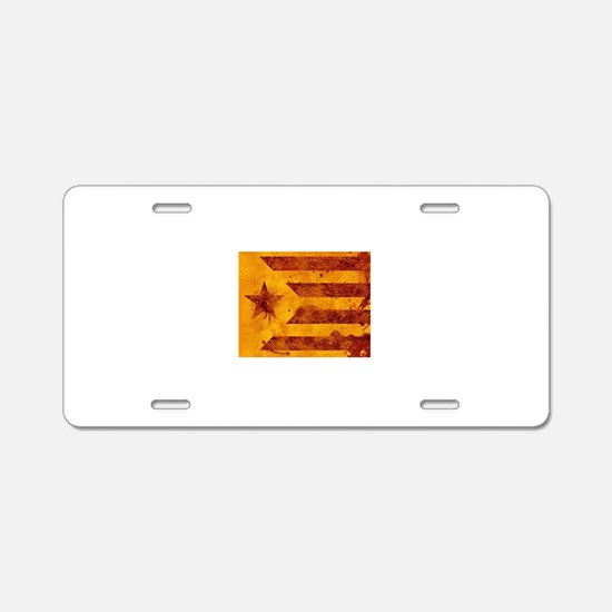 The Estelada - Catalan inde Aluminum License Plate