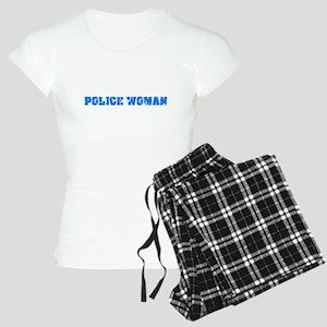 Police Woman Blue Bold Design Pajamas
