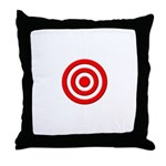 Bullseye_Red Throw Pillow