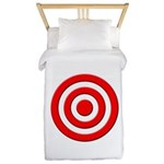 Bullseye_Red Twin Duvet
