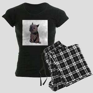 Cairn Wire Hair Terrier Women's Dark Pajamas