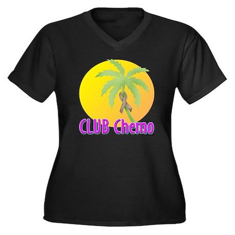 Club Chemo-Colon Women's Plus Size V-Neck Dark T-S