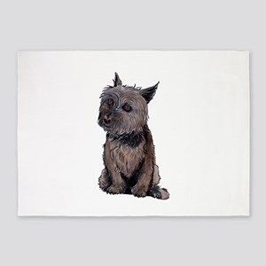 Cairn Wire Hair Terrier 5'x7'Area Rug