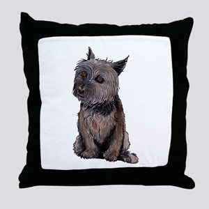 Cairn Wire Hair Terrier Throw Pillow