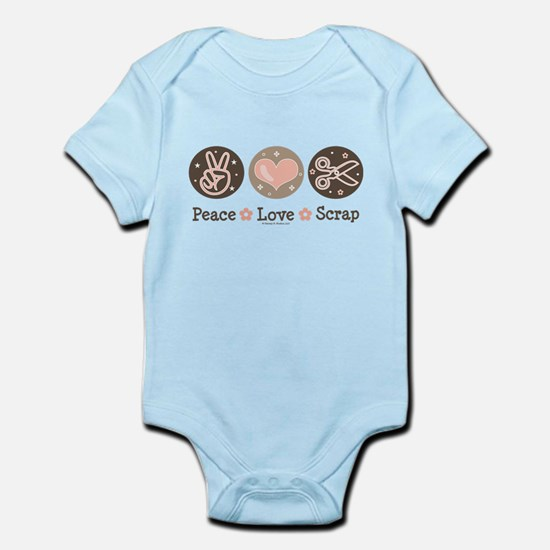 Peace Love Scrapbook Infant Bodysuit