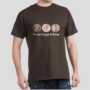 Peace Love Scrapbook Dark T-Shirt
