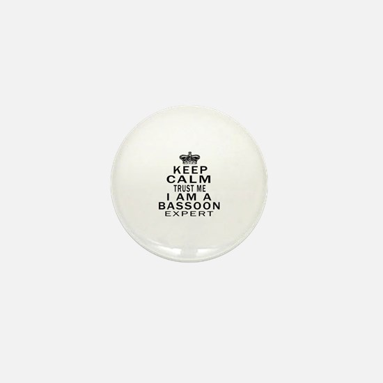 I Am Bassoon Expert Mini Button
