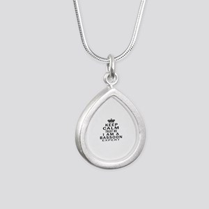 I Am Bassoon Expert Silver Teardrop Necklace