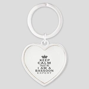 I Am Bassoon Expert Heart Keychain