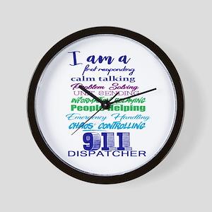 911 Dispatch Wall Clock