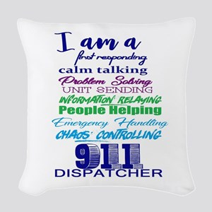911 Dispatch Woven Throw Pillow