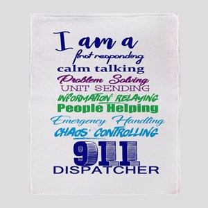 911 Dispatch Throw Blanket