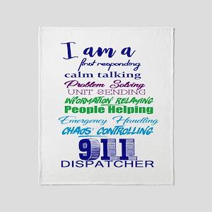 911 Dispatch Throw Blanket