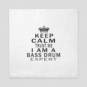 I Am Bass Drum Expert Queen Duvet
