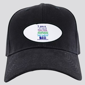 911 Dispatch Baseball Hat Black Cap With Patch