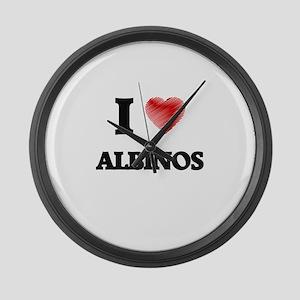 I Love ALBINOS Large Wall Clock