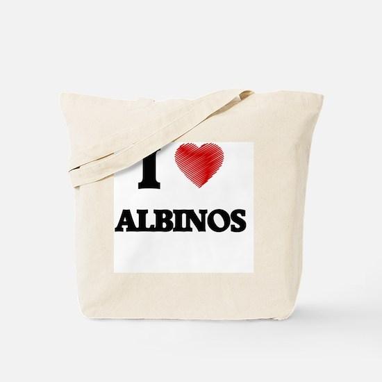 I Love ALBINOS Tote Bag