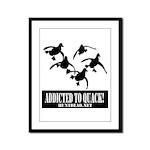Addicted To Quack Framed Panel Print