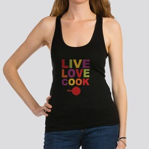 Live Love Cook Racerback Tank Top
