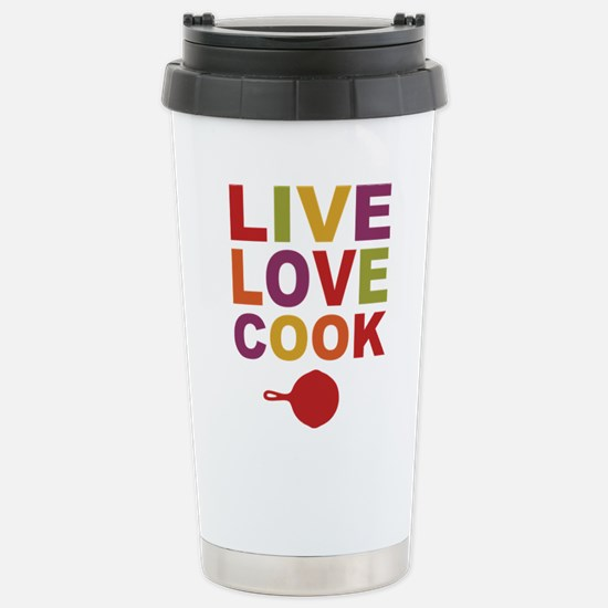 Live Love Cook Stainless Steel Travel Mug