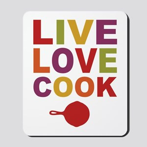 Live Love Cook Mousepad