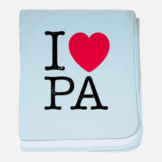 I Love PA Pennsylvania baby blanket