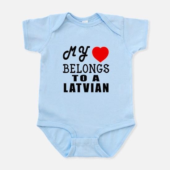 I Love Latvian Infant Bodysuit