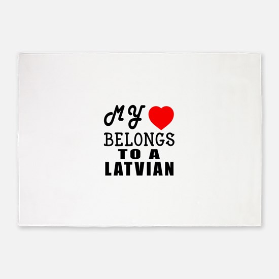 I Love Latvian 5'x7'Area Rug
