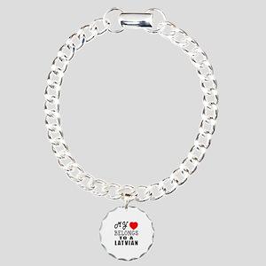 I Love Latvian Charm Bracelet, One Charm