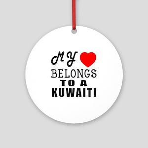 I Love Kuwaiti Round Ornament