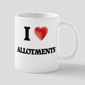 I Love ALLOTMENTS Mugs
