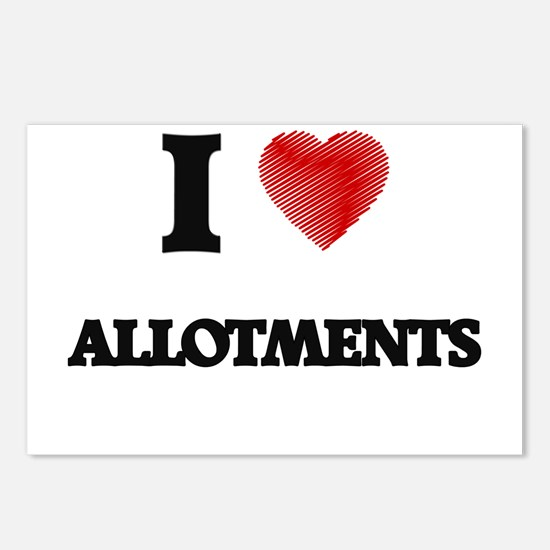 I Love ALLOTMENTS Postcards (Package of 8)