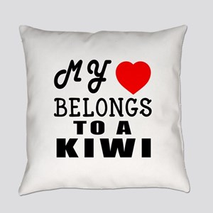 I Love Kiwi Everyday Pillow