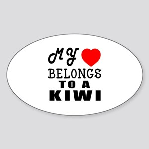 I Love Kiwi Sticker (Oval)